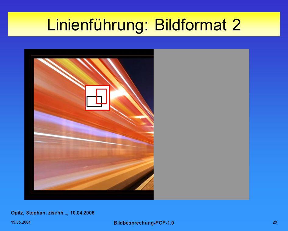 Linienführung: Bildformat 2