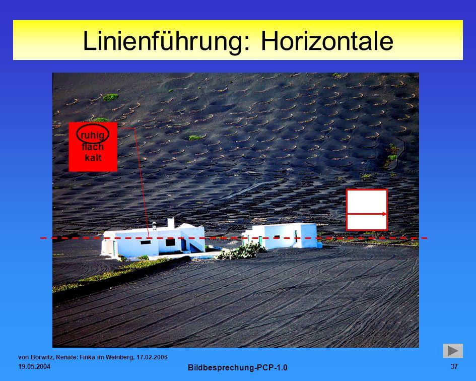 Linienführung: Horizontale