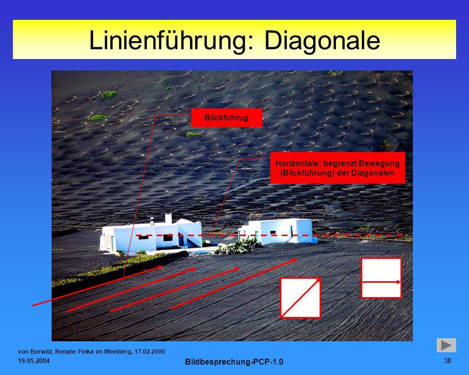 Linienführung: Diagonale