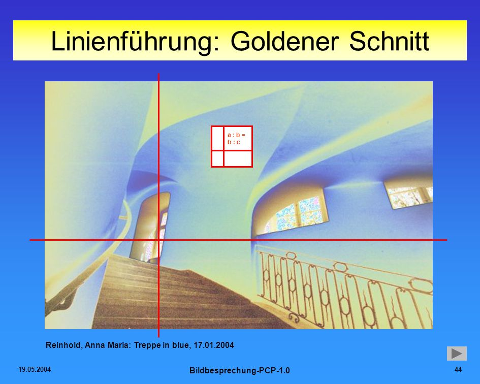 Linienführung: Goldener Schnitt