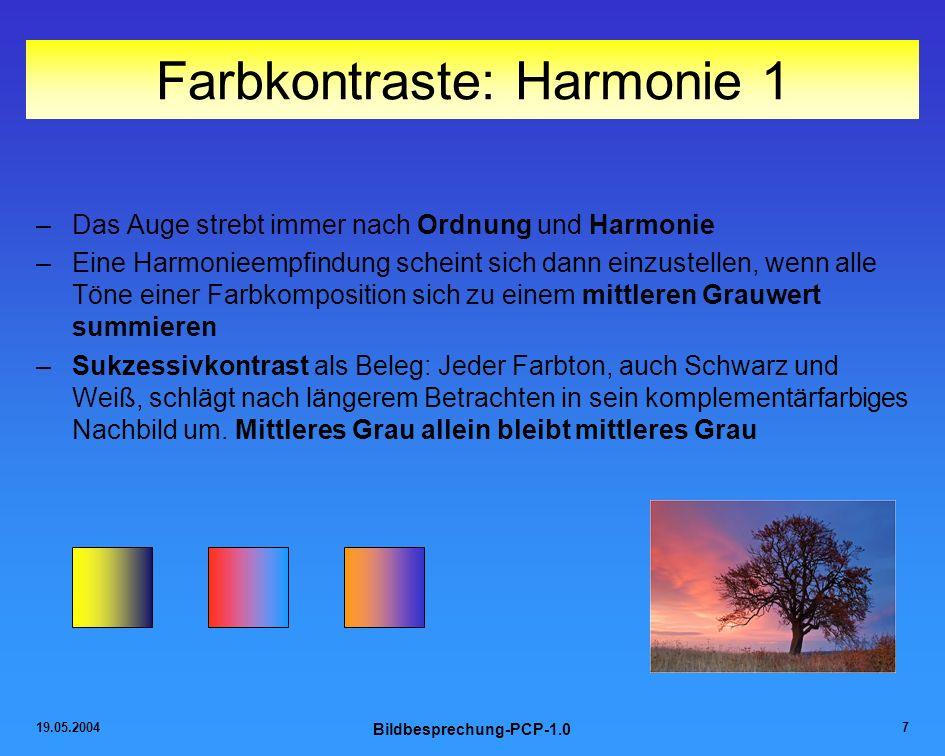 Farbkontraste: Harmonie 1