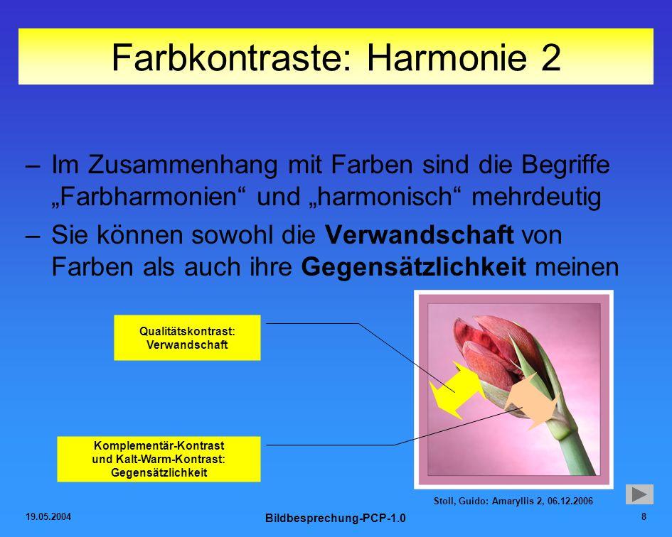 Farbkontraste: Harmonie 2