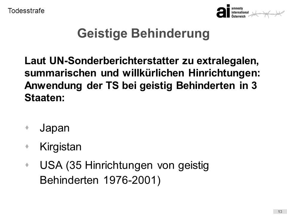 Geistige Behinderung Japan Kirgistan