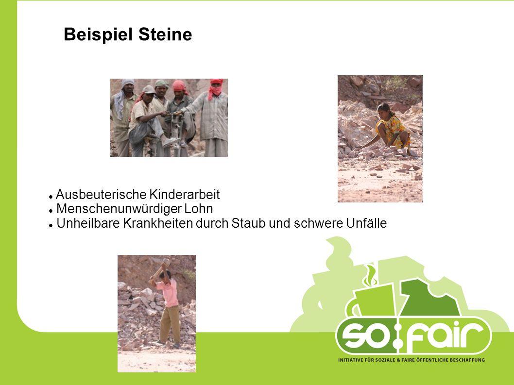 Beispiel Steine Ausbeuterische Kinderarbeit Menschenunwürdiger Lohn