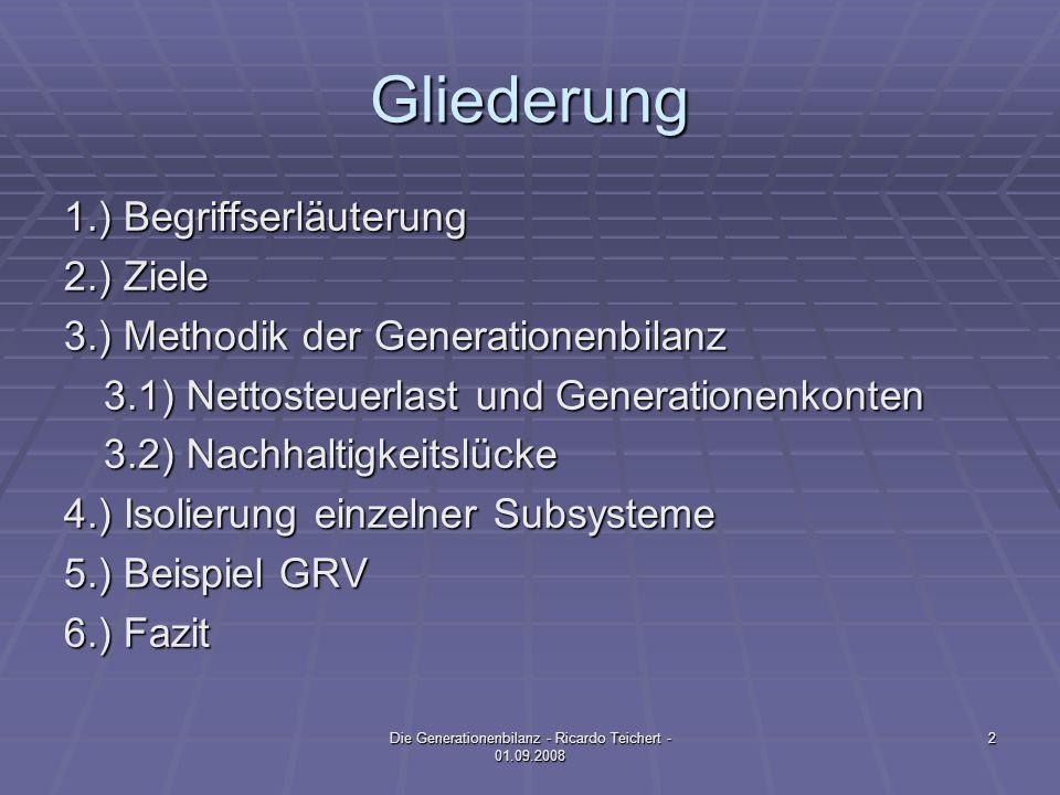 Die Generationenbilanz - Ricardo Teichert - 01.09.2008