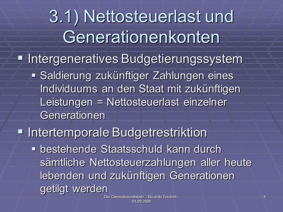 3.1) Nettosteuerlast und Generationenkonten