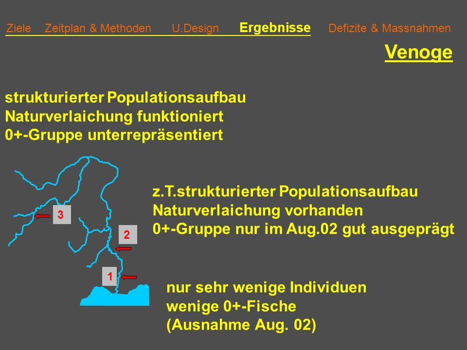 Venoge strukturierter Populationsaufbau Naturverlaichung funktioniert