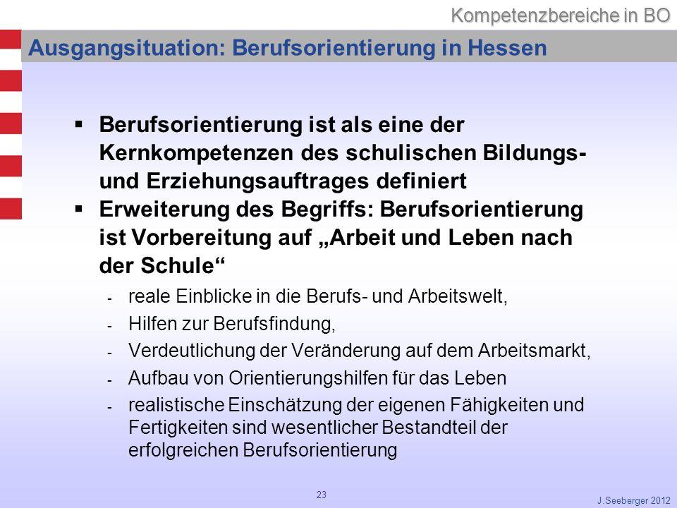 Ausgangsituation: Berufsorientierung in Hessen