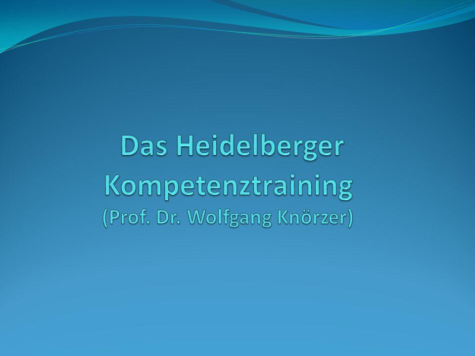 Das Heidelberger Kompetenztraining (Prof. Dr. Wolfgang Knörzer)