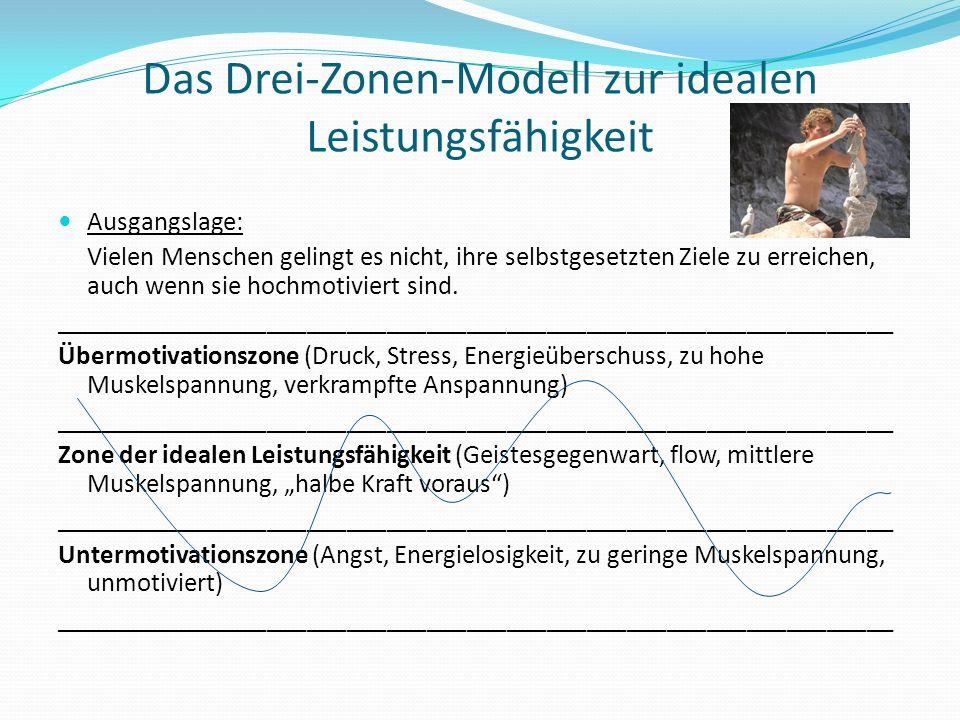 Das Drei-Zonen-Modell zur idealen Leistungsfähigkeit