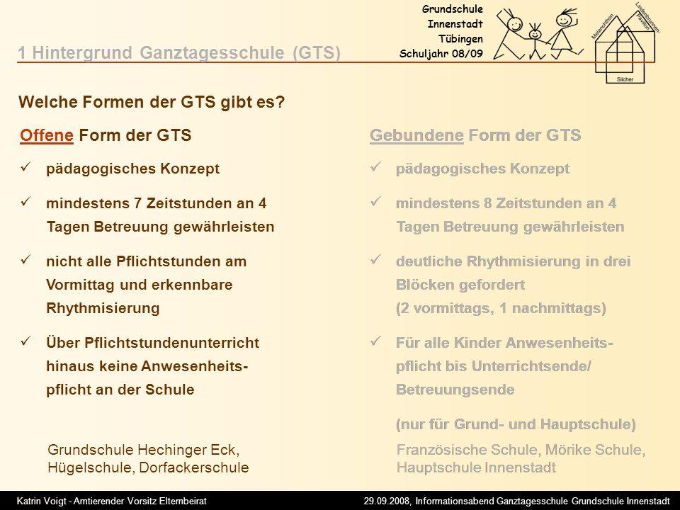 1 Hintergrund Ganztagesschule (GTS)