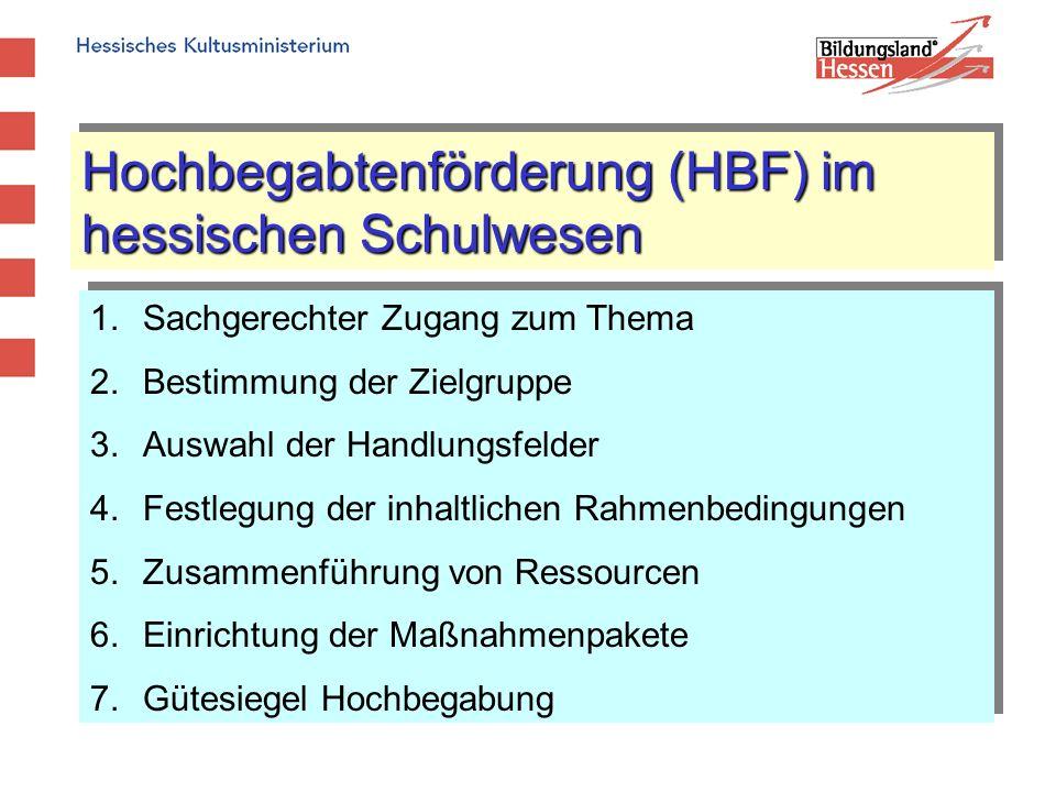 Hochbegabtenförderung (HBF) im hessischen Schulwesen