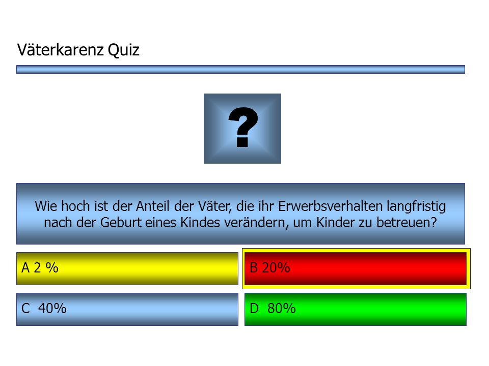 Väterkarenz Quiz