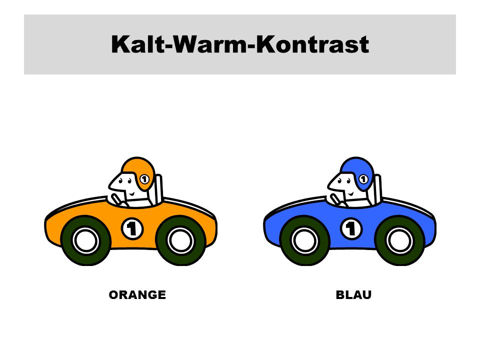 Kalt-Warm-Kontrast ORANGE BLAU