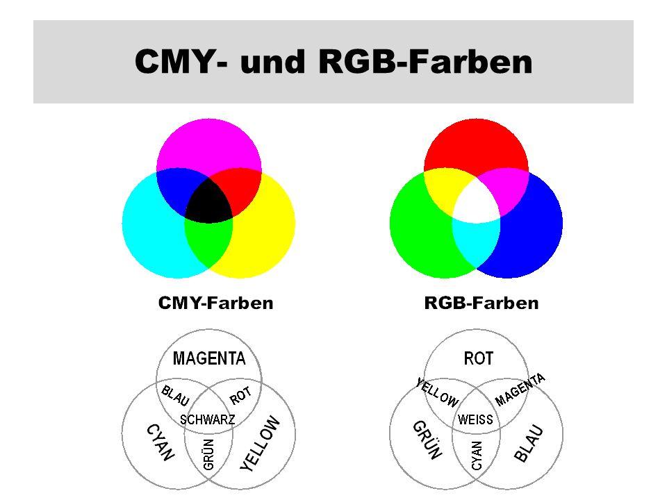 CMY- und RGB-Farben