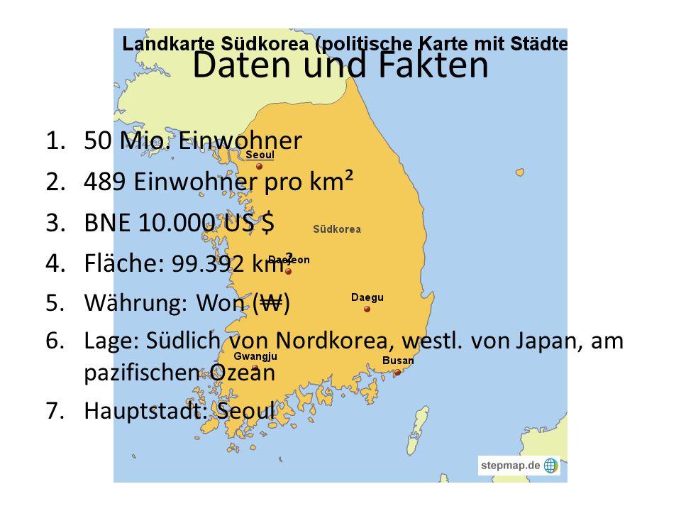 Daten und Fakten 50 Mio. Einwohner 489 Einwohner pro km²