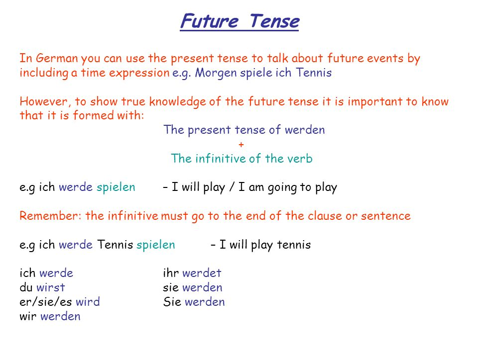 The infinitive of the verb