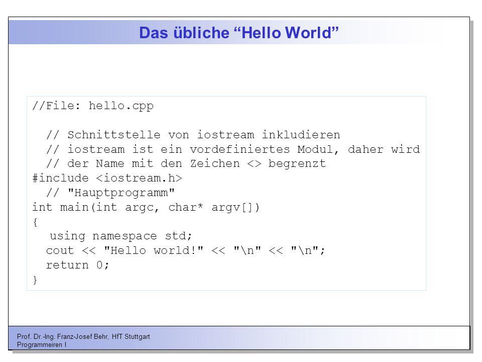 Das übliche Hello World