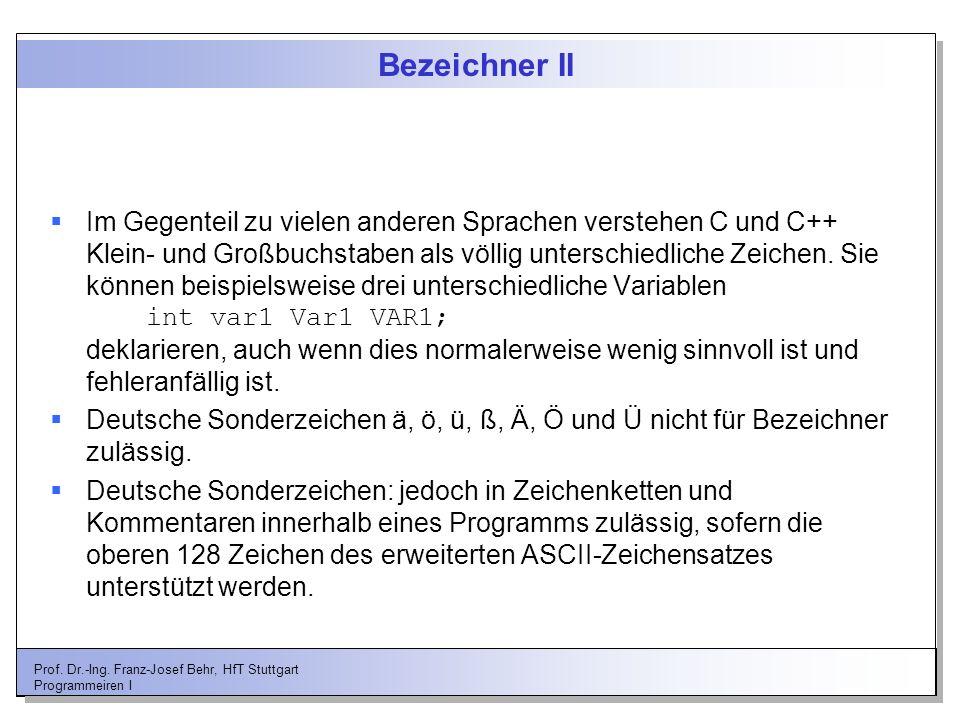 Bezeichner II