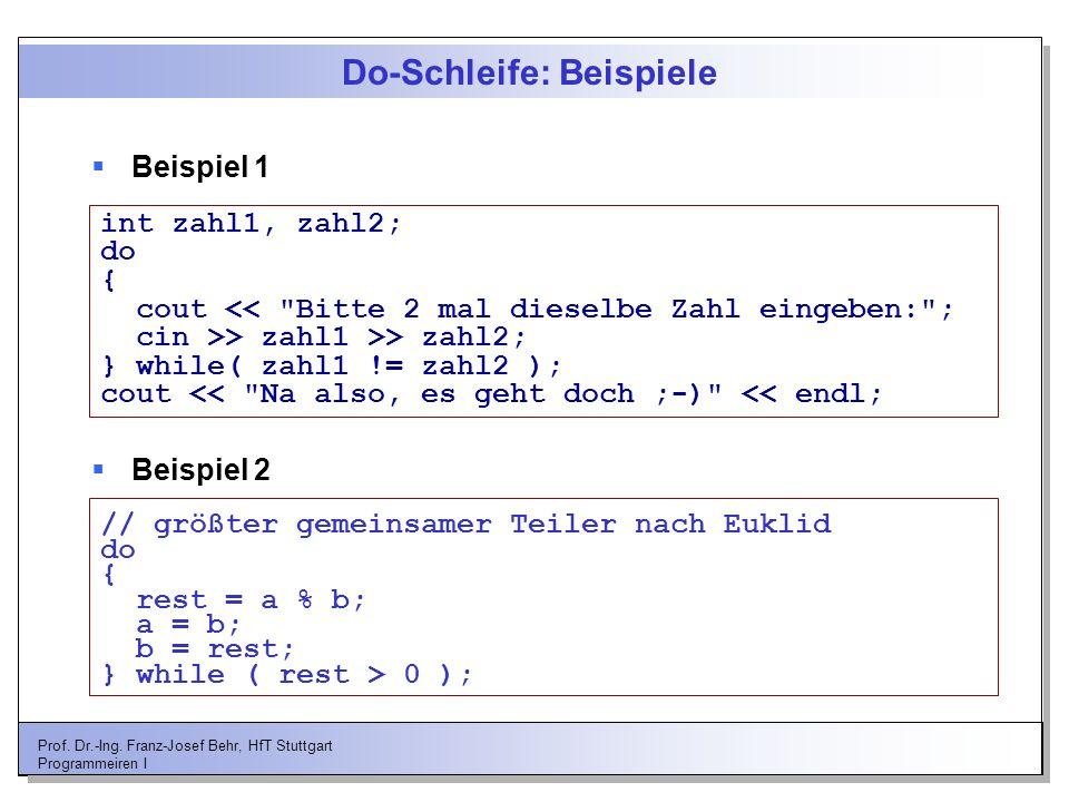 Do-Schleife: Beispiele