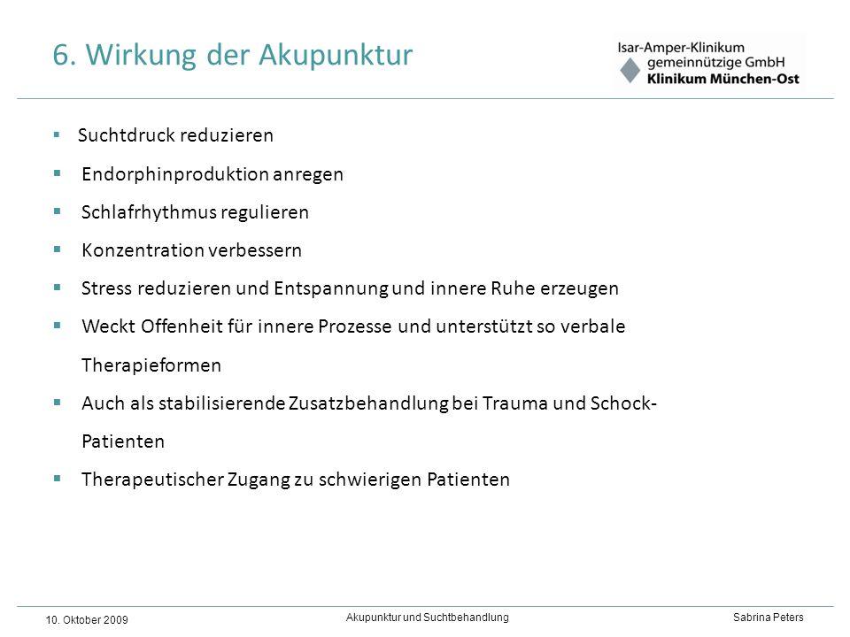 6. Wirkung der Akupunktur