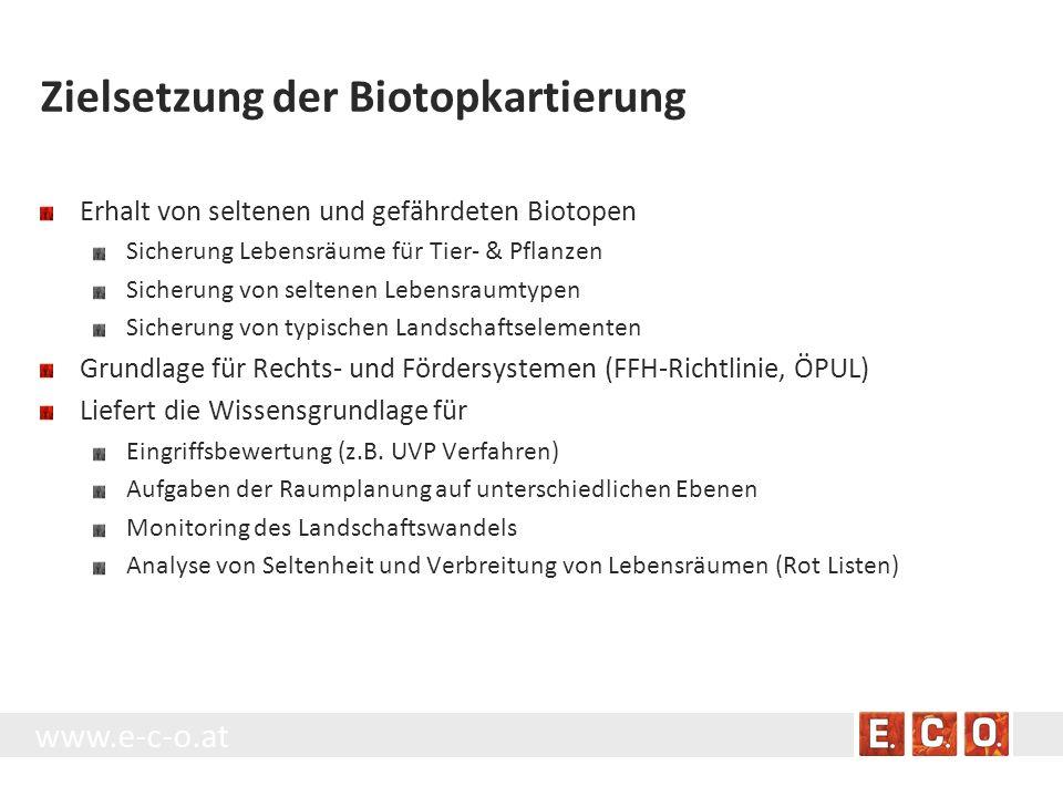 Zielsetzung der Biotopkartierung