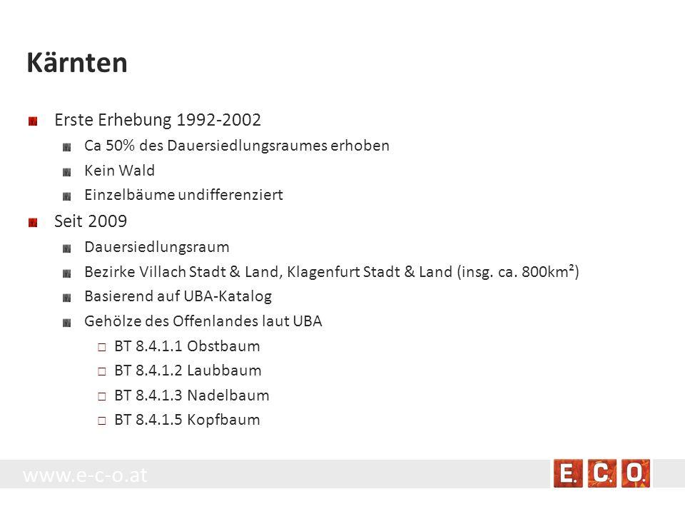Kärnten Erste Erhebung 1992-2002 Seit 2009