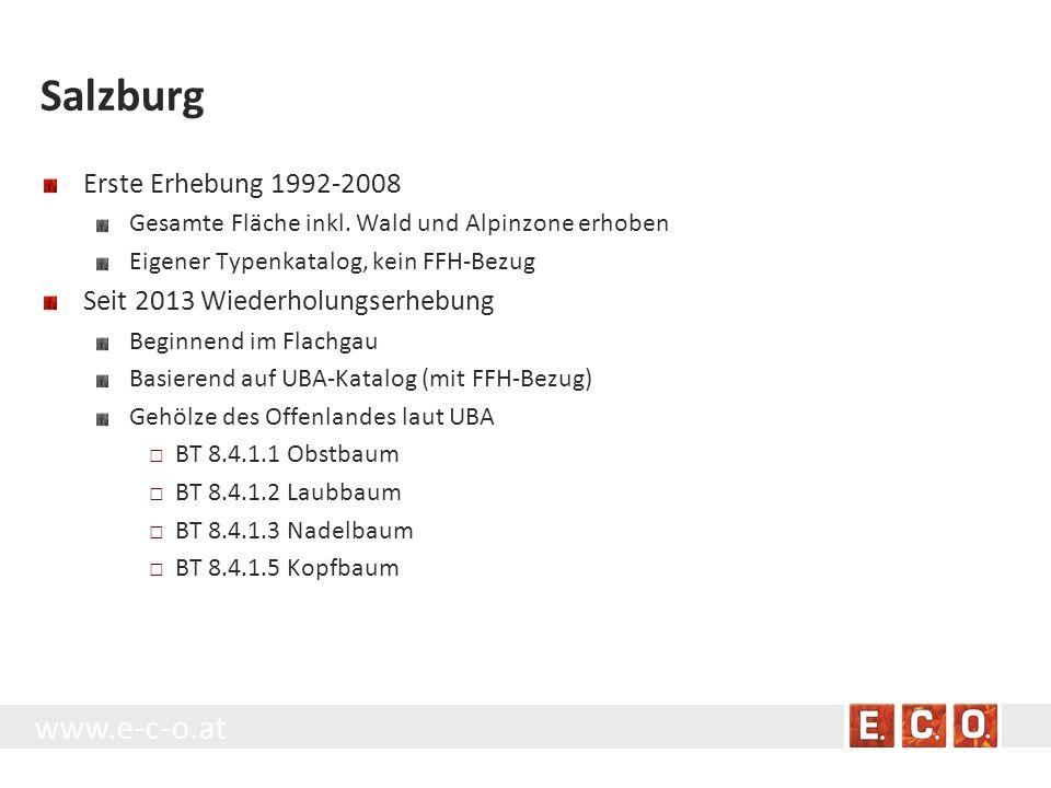 Salzburg Erste Erhebung 1992-2008 Seit 2013 Wiederholungserhebung