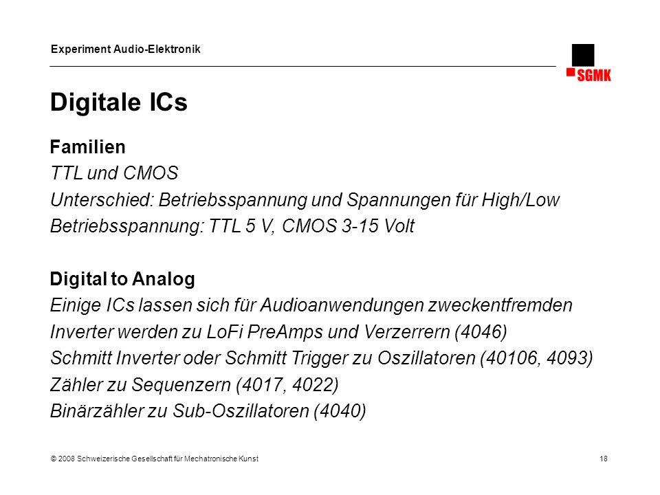 Digitale ICs Familien TTL und CMOS