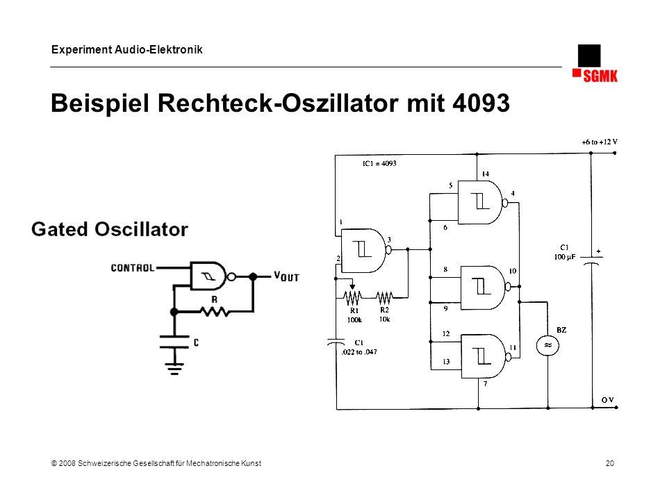 Beispiel Rechteck-Oszillator mit 4093
