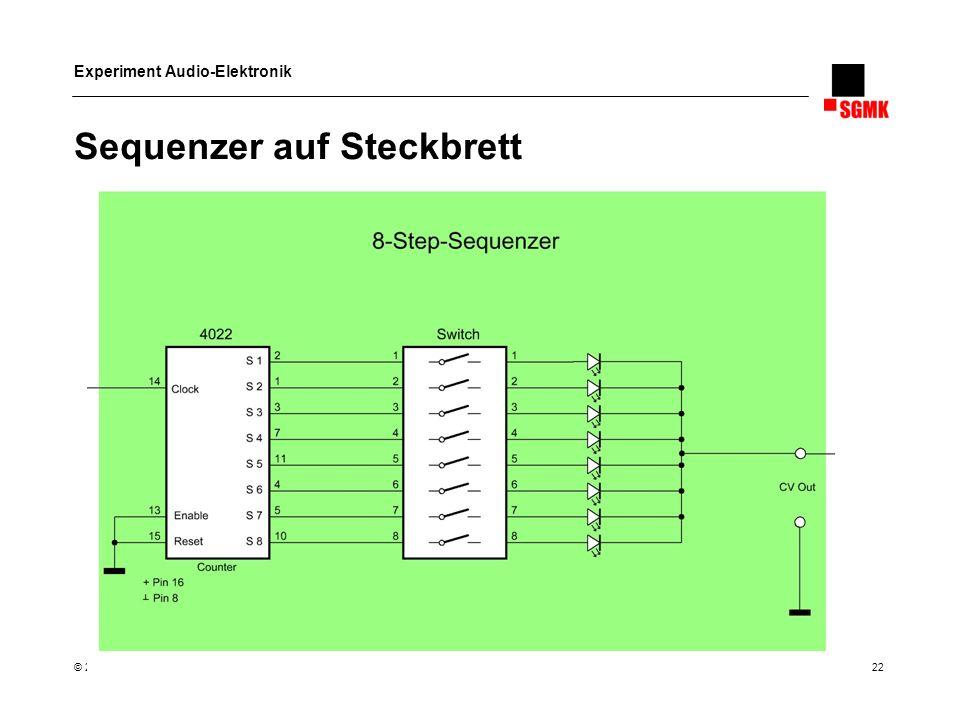 Sequenzer auf Steckbrett