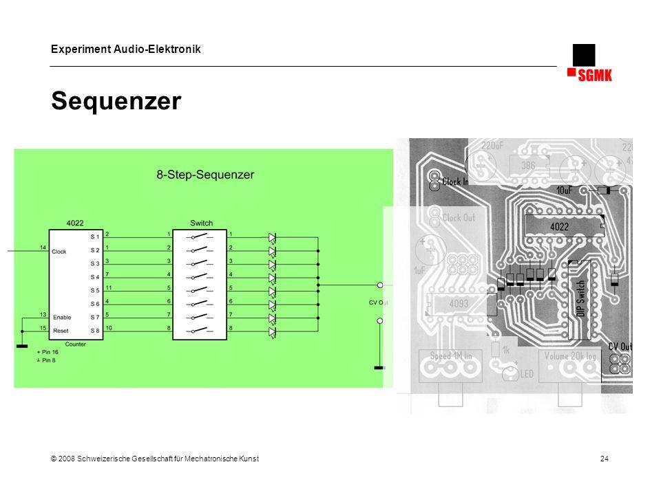 Sequenzer © 2008 Schweizerische Gesellschaft für Mechatronische Kunst 24
