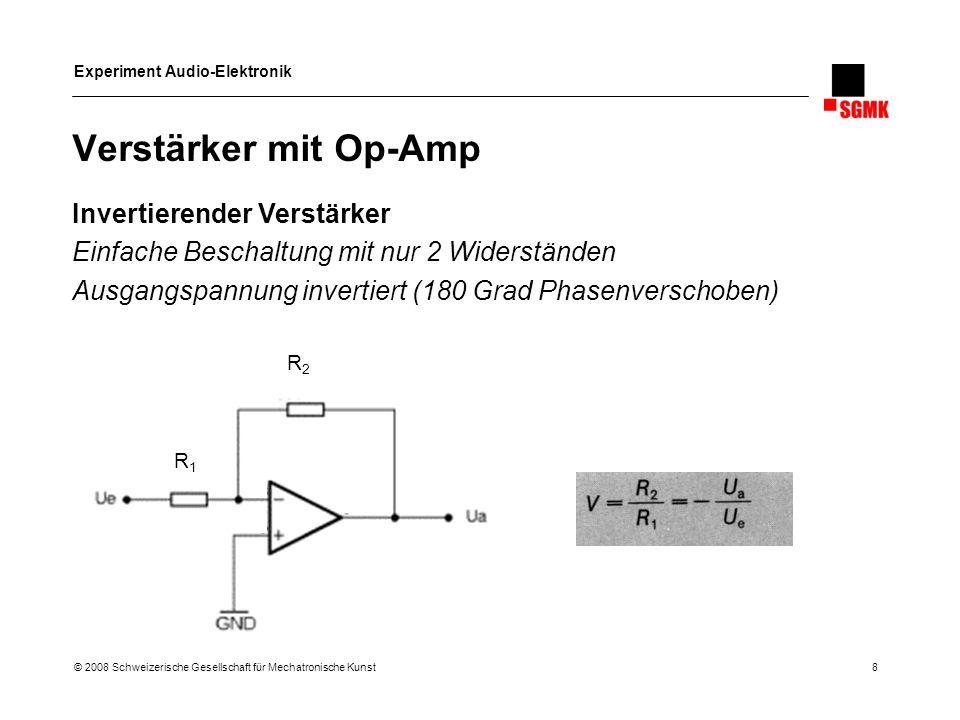 Verstärker mit Op-Amp Invertierender Verstärker