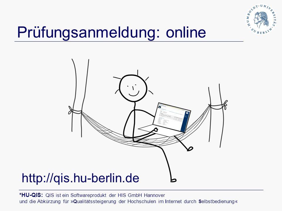 Prüfungsanmeldung: online