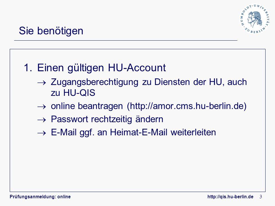 Einen gültigen HU-Account