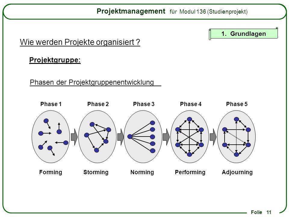 Wie werden Projekte organisiert