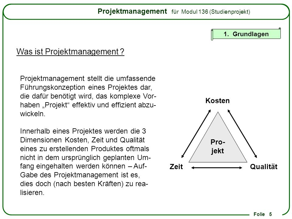 Was ist Projektmanagement