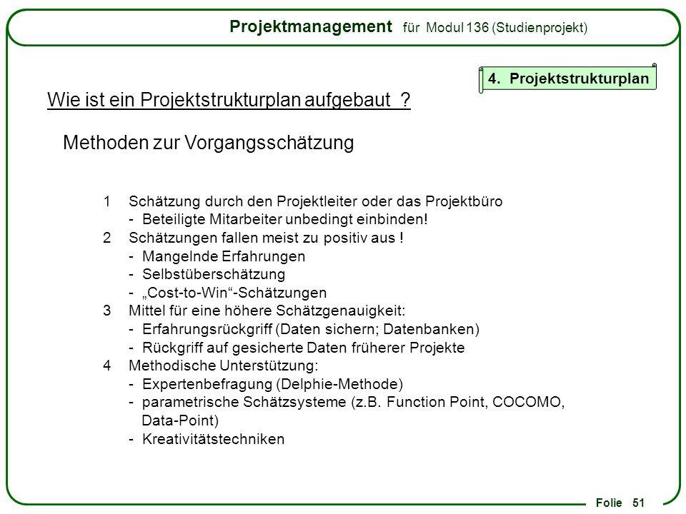 Wie ist ein Projektstrukturplan aufgebaut
