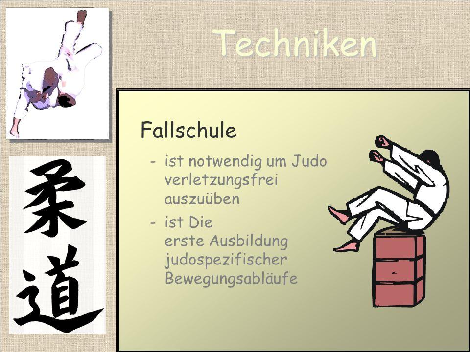 Techniken Fallschule ist notwendig um Judo verletzungsfrei auszuüben