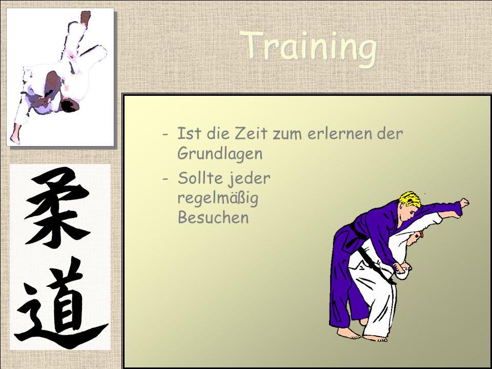 Training Ist die Zeit zum erlernen der Grundlagen