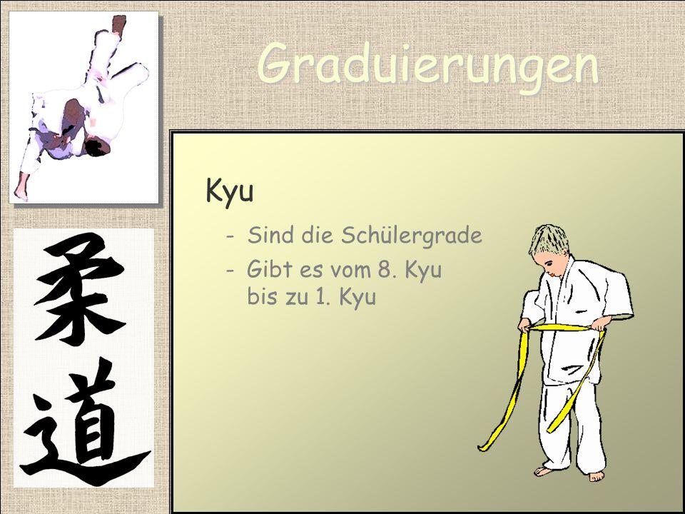 Graduierungen Kyu Sind die Schülergrade