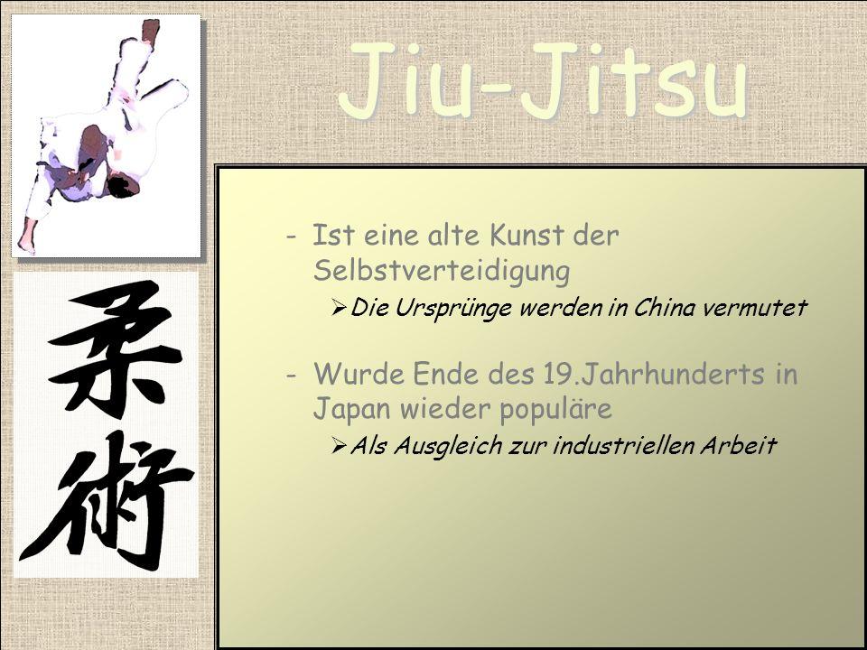 Jiu-Jitsu Ist eine alte Kunst der Selbstverteidigung