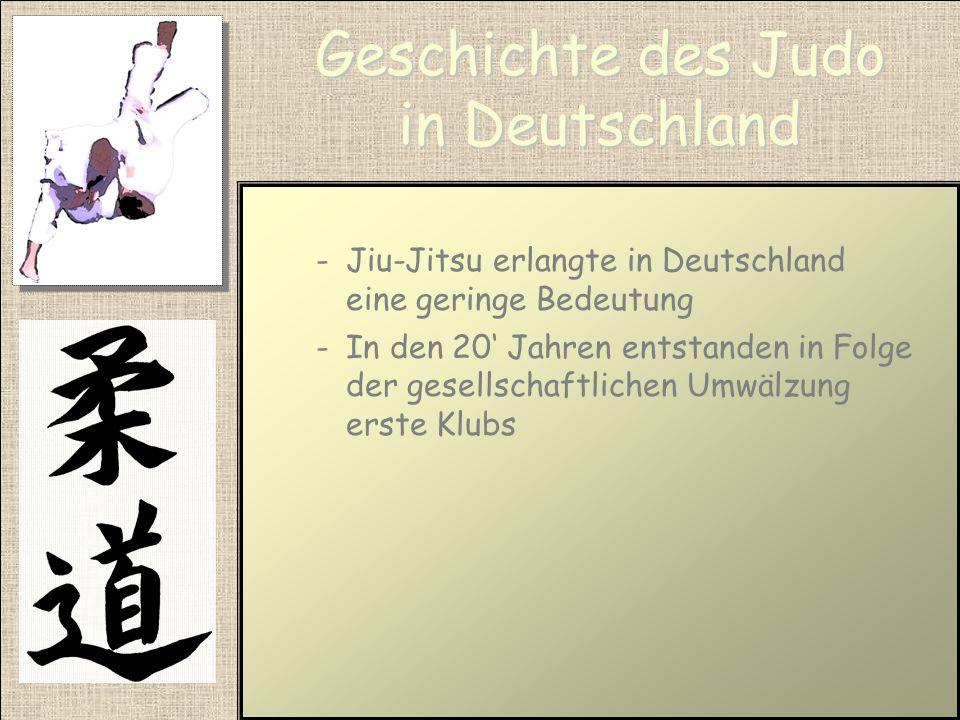 Geschichte des Judo in Deutschland