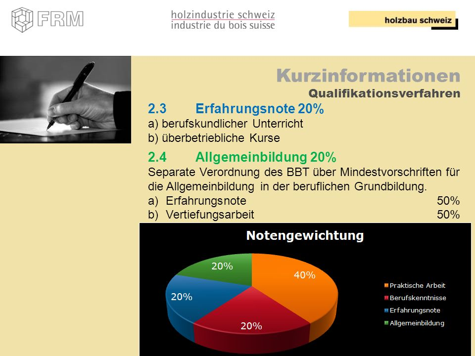 Kurzinformationen Qualifikationsverfahren