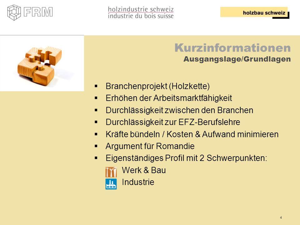 Kurzinformationen Branchenprojekt (Holzkette)