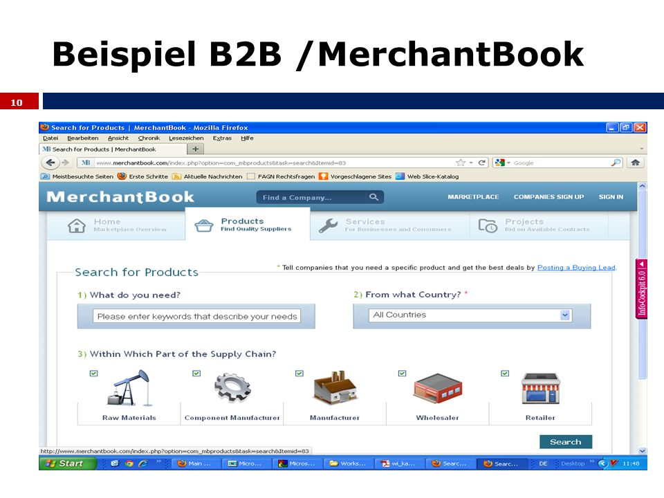 Beispiel B2B /MerchantBook