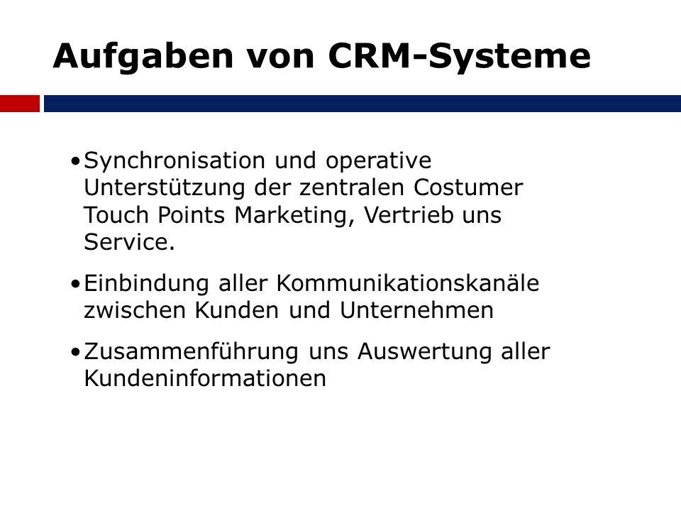 Aufgaben von CRM-Systeme