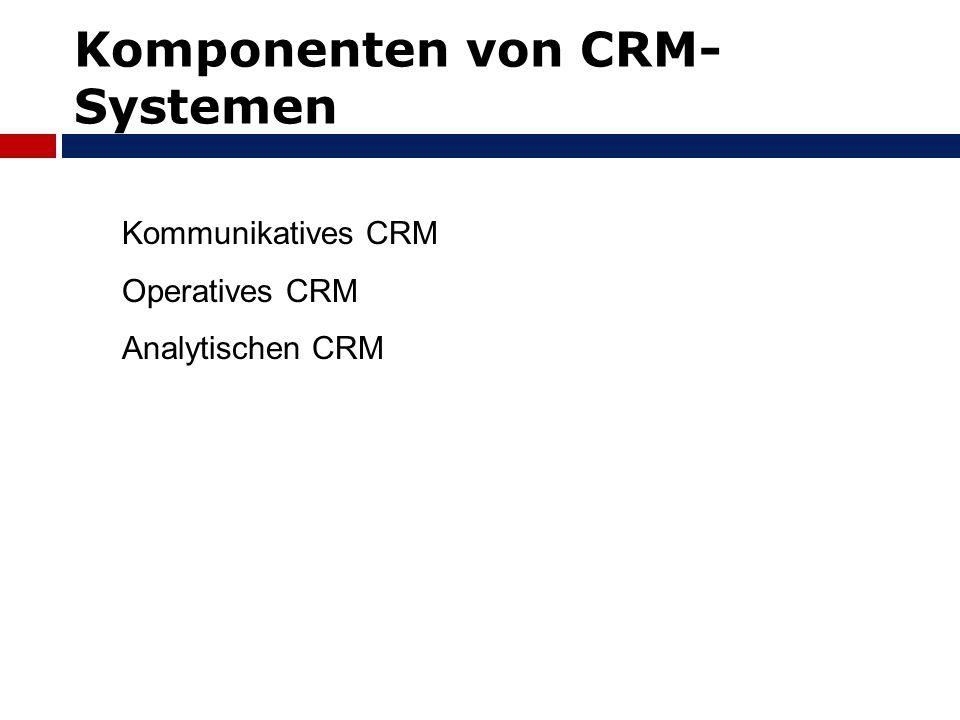 Komponenten von CRM-Systemen