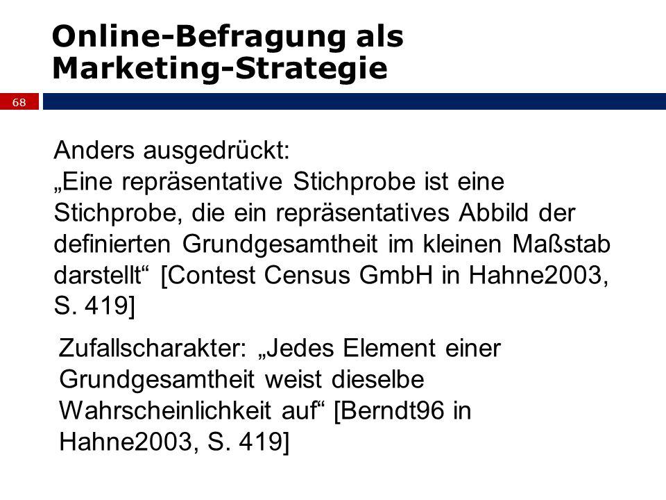 Online-Befragung als Marketing-Strategie Anders ausgedrückt: