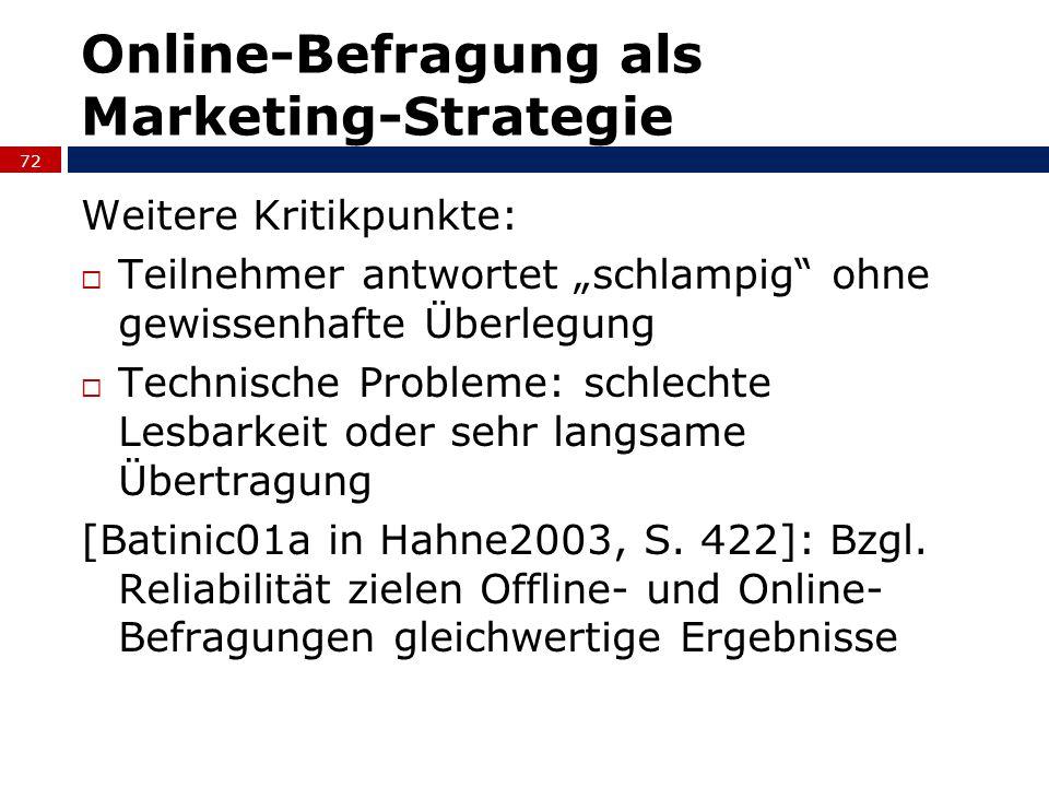 Online-Befragung als Marketing-Strategie